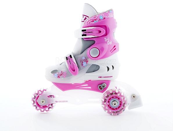 010c1b295 Detské kolieskové korčule Worker Trigo Skate LED - Manvel.sk